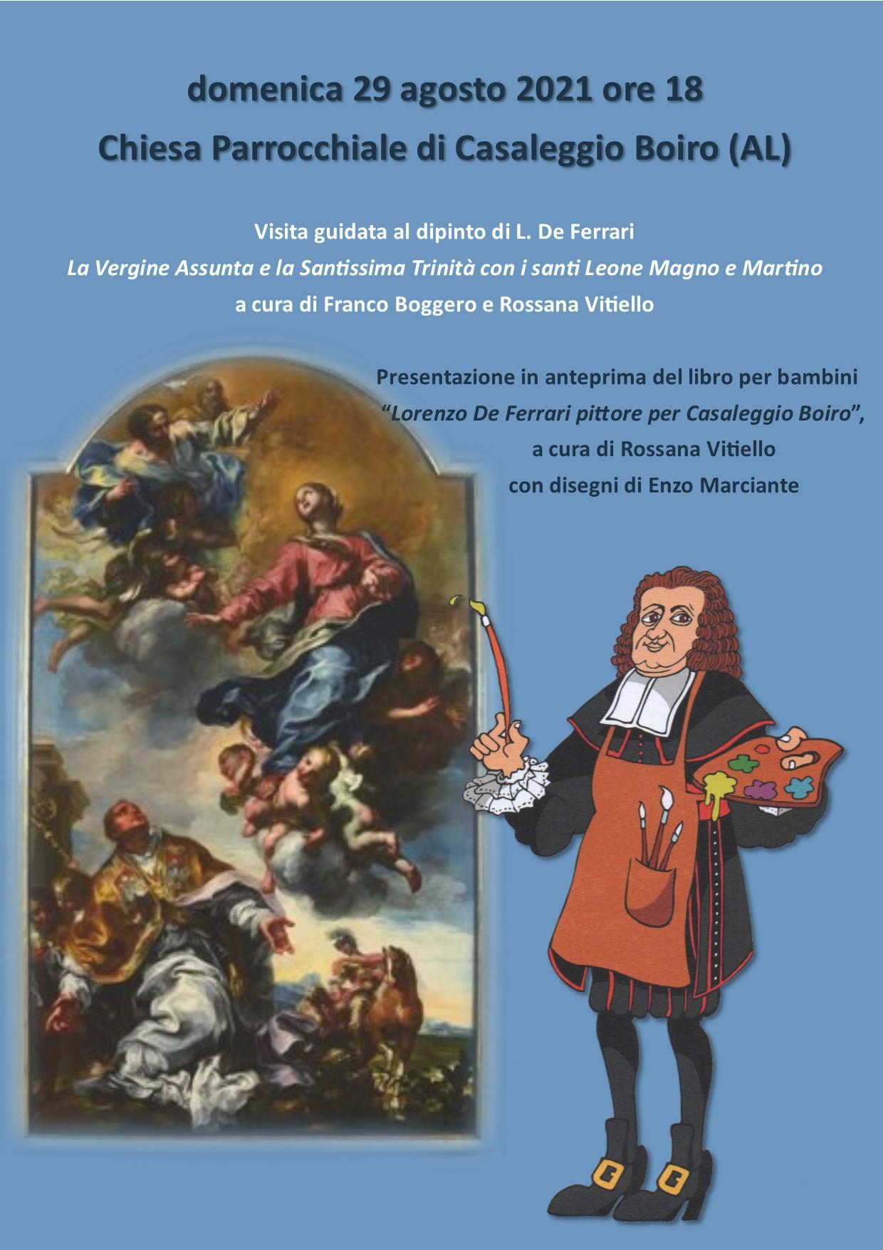 locandiina evento visita guidata e presentazione libro a casaleggio boiro